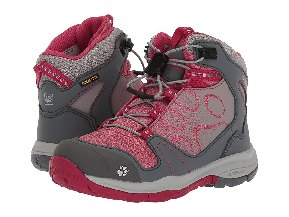 Jack Wolfskin Kids Grivla Texapore Mid (Toddler/Little Kid/Big Kid) (Azalea Red) Girls Shoes