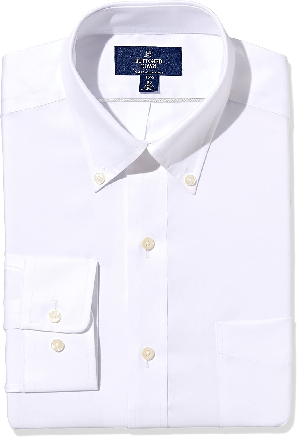 Buttoned Down low-pricing Men's Standard Classic Denver Mall Solid Fit Button Non Collar
