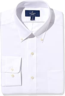 Amazon Brand - BUTTONED DOWN Men's Classic Fit Button-Collar Solid Pinpoint Dress Shirt, Supima Cotton Non-Iron