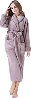 Women's Plush Soft Warm Fleece Bathrobe Robe RH1591