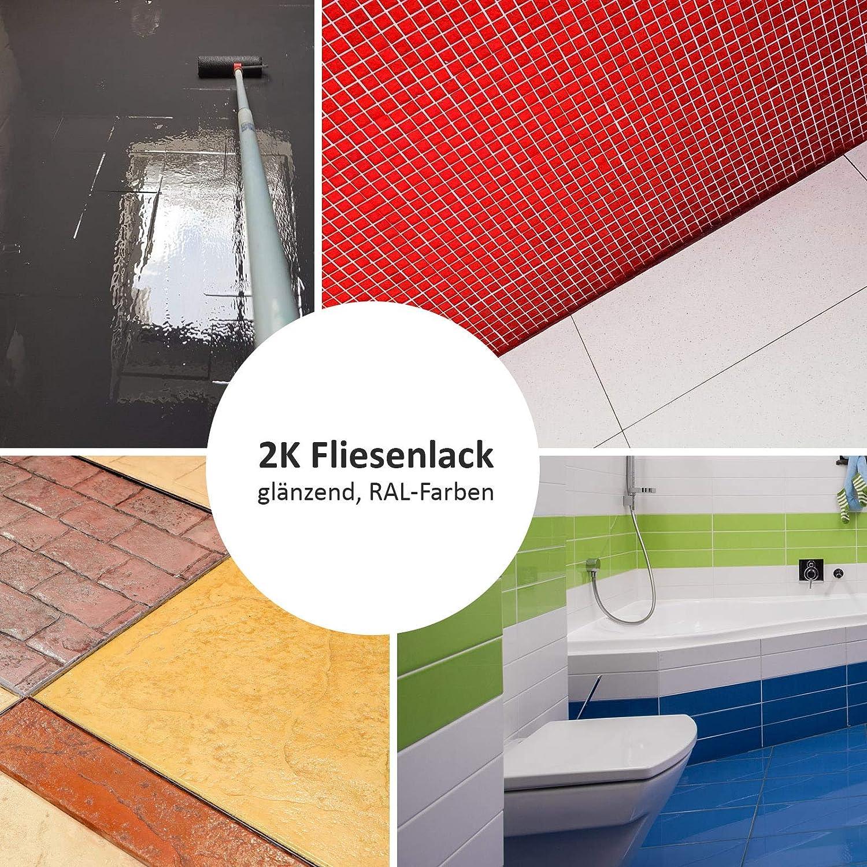 BEKATEQ BK 200F 20K Fliesenfarbe für Boden  und Wandfliesen, 20,205kg ...