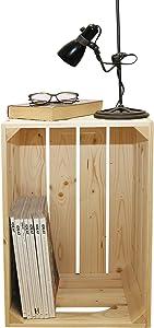Simply a Box Table de Chevet 1S - caisses en Bois 54x36x30cm - Fabriquée Main en France