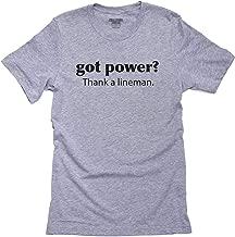 Hollywood Thread Got Power? Thank a Lineman - Worker Job Men's T-Shirt