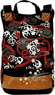 Japanese Embroidery Design BackPack with Made in Japan Cool KIMONO Pattern Fabric.