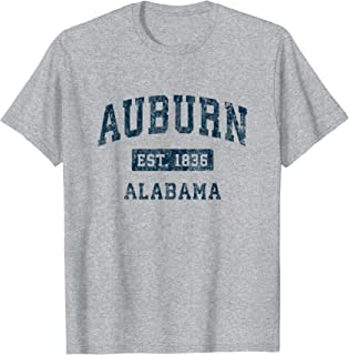 Auburn Alabama AL Vintage Sports Design Navy Print T-Shirt