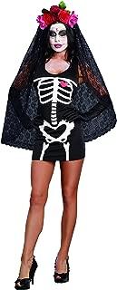 Women's Sexy Skeleton Print DIY Costume Starter Dress