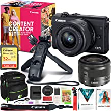 $599 » Canon EOS M200 Content Creator Kit with M200 Mirrorless Digital Camera + EF-M 15-45mm is STM Lens + HG-100TBR Tripod Grip + BR-E1 Wireless Remote Bundle with Deco Gear Case + Software and Accessories