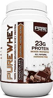 Grass Fed Whey Protein Powder | Chocolate 2lb Grass Fed Whey | 100% Natural Whey w/No Added Sugars | rBGH Free + GMO-Free + Gluten Free + Preservative Free | Pure Whey