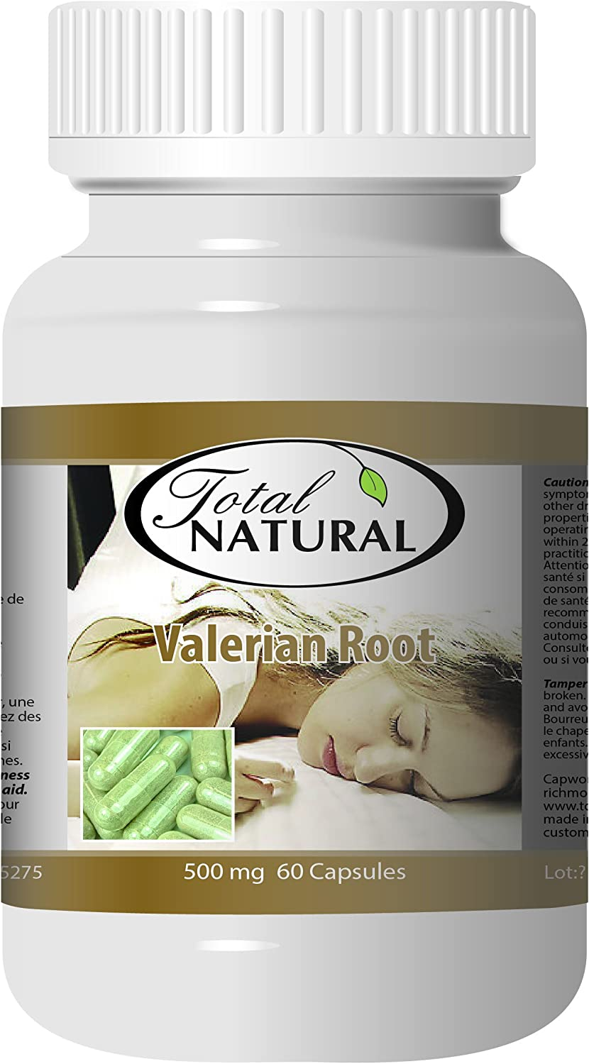 Max 56% OFF Valerian Root 500mg 60c 5 Bottles by Cont Sleep Natural 4 years warranty Total