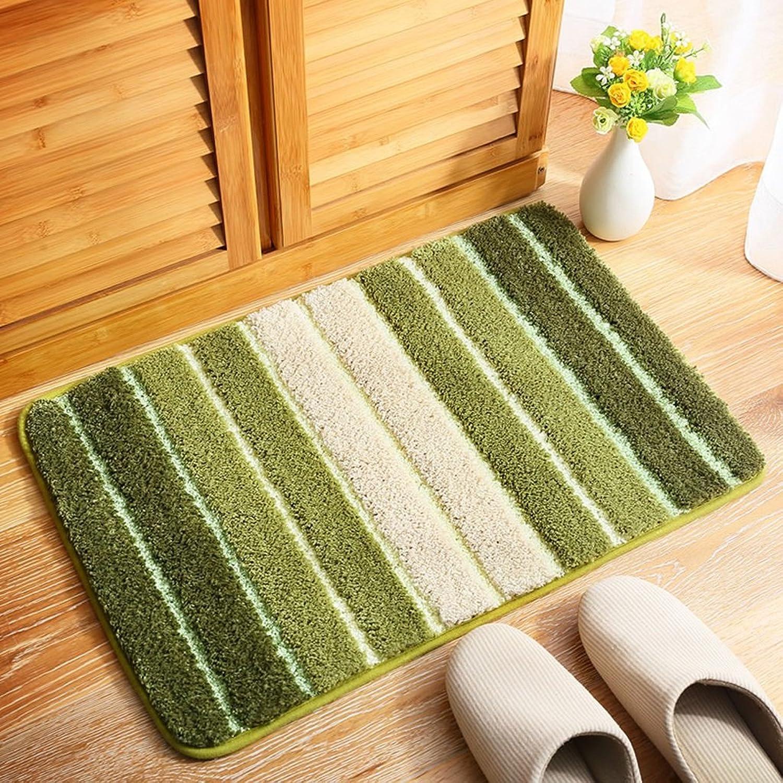 Home color Striped Rectangular mats, Bedside Bathroom Absorbent Non-Slip Carpet 40  60cm (color   C)