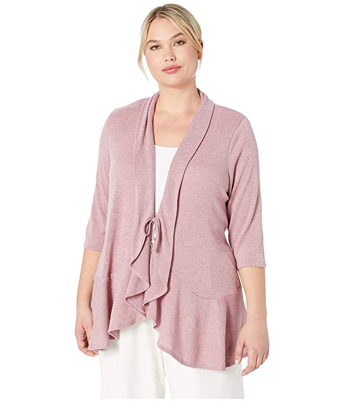 Kiyonna Love Story Cardigan (Sparkling Rose) Women's Sweater
