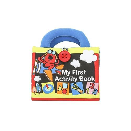 Gearmax Peque/ño Beb/é Libro de pa/ño Tejido Blando Papel del Beb/é Educaci/ón Temprana y Desarrollo de Juguete Conjunto de 3 Libros