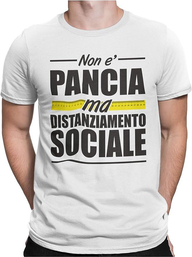 37 opinioni per STAMPATEK Maglietta Divertente Non è Pancia Ma Distanziamento Sociale T-Shirt