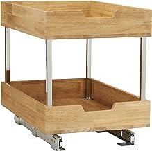"Household Essentials 24521-1 Glidez Bamboo 2-Tier Sliding Cabinet Organizer, 14.5"" Wide, Wood"
