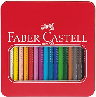 ファーバーカステル ジャンボグリップ 色鉛筆 16色セット 缶入 ギフトボックス 110916 [日本正規品]