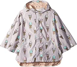Stella McCartney Kids Froggie Ice Cream Print Rain Cape (Toddler/Little Kids/Big Kids)