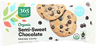 365 by Whole Foods Market, Organic Baking Chips, Semi-Sweet Chocolate, 1 Ounce
