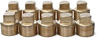 LTWFITTING Brass Pipe Square Head Plug Fittings 3/4