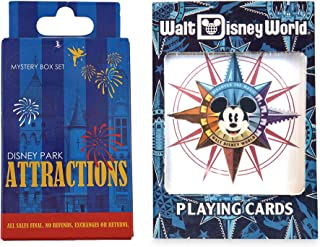 Parks Attractions Disney Playing Cards Compass Mickey Magic Kingdom + Ride Character Attractions Blind Box Trading Pins