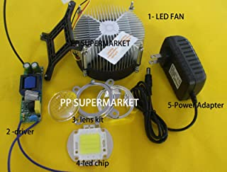 FidgetKute 30W High Power Warm/White LED Light +Heatsink Cooler+ LED Driver +Lens DIY US+WW+heatsink+Lens+Driver One Size