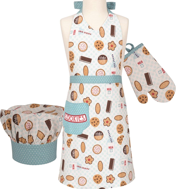 Handstand Kitchen Child's Max 52% OFF Milk and 100% Cookies Cotton Mi Ranking TOP4 Apron