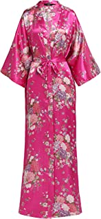 Kimono Robe Long Floral Bridesmaid Wedding Bachelorette Party Robe 53 Inches
