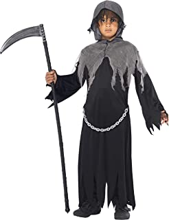 Smiffys Children's Grim Reaper Costume, Cloak & Hood, Size: L, Color: Black, 35987