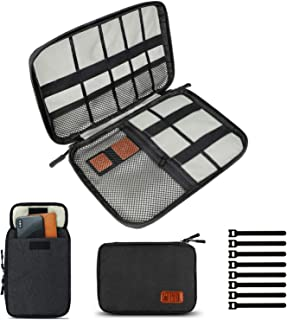 Travel Cable Organizer Bag, Electronics Accessories Carry Cases Portable Cord Organizer Bag for Cable, Charger, Phone, USB...