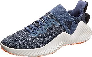 adidas Alphabounce Trainer Men's Sneaker, Tech Ink/Legend Ink/Solar Orange, 9.5 US