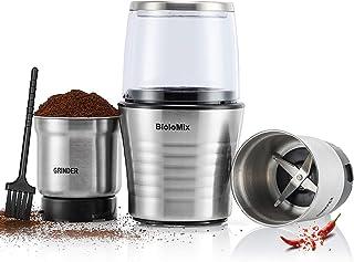 CGOLDENWALL Kaffekvarn elektrisk 2-i-1 våt- och torrkvarn för kryddor nötter bönor och våta ingredienser med rostfritt stå...