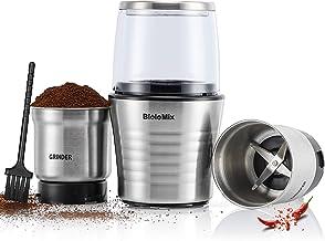CGOLDENWALL Koffiemolen Elektrische 2-in-1 natte en droge molen voor specerijen Notenbonen en natte ingrediënten met roest...