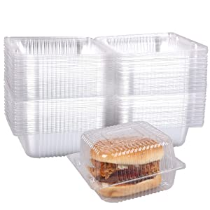 60 Pack Disposable Clear Plastic Food Containers, 5.3