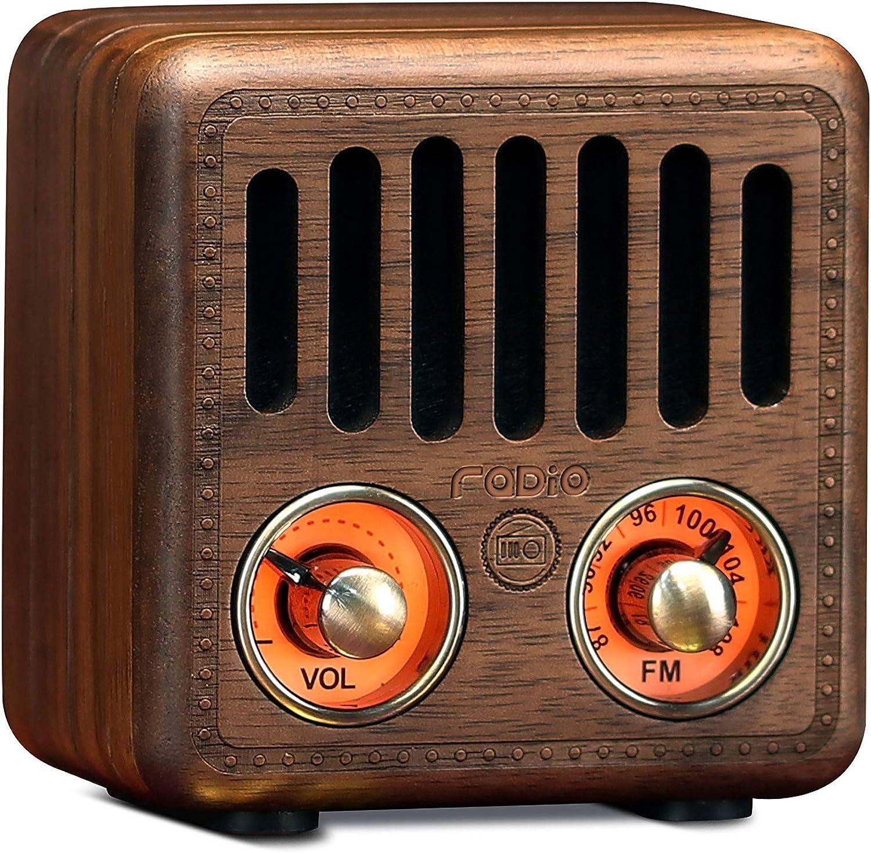 Retro Nashville-Davidson Mall Radio Vintage Bluetooth Speaker Wooden FM Walnut Greadio Baltimore Mall