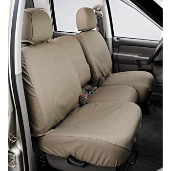 Polycotton Covercraft SeatSaver Second Row Custom Fit Seat Cover for Select Ford F-150 Models SS8424PCTN Tan