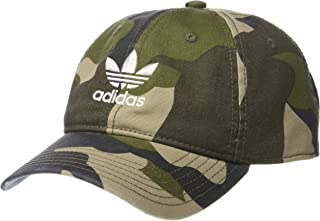 6e3ec7c1 adidas Men's Originals Relaxed Strapback Cap, Aop Camo Olive Cargo/White,  One Size