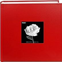 ألبوم صور صور ألبوم ألبوم ألبوم ألبوم صور Pioneer 200 جيب مصنوع من الجلد الصناعي، مقاس 10.16 سم × 15.24 سم، أحمر