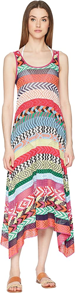 Leandra Dress Fira Stripe Knit Cover-Up