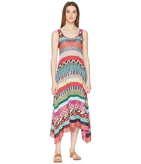 Mary Katrantzou Leandra Dress Fira Stripe Knit Cover-Up