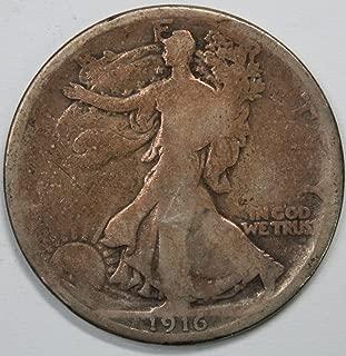 1916 P Walking Liberty Half Dollar 50c Good+