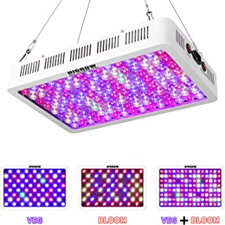 HIGROW 600W Optical Lens LED Grow Light Full Spectrum with Veg and Bloom Switch for Greenhouse and Indoor Plant Growing