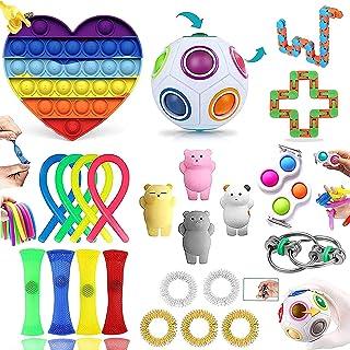 LIGEDG Fidget Toys Pack, Fidget Toys for Anti Stress Enfant, P-óp It Pack(24 Pièces) Peuvent Offrir Plusieurs Choix De Jeu...