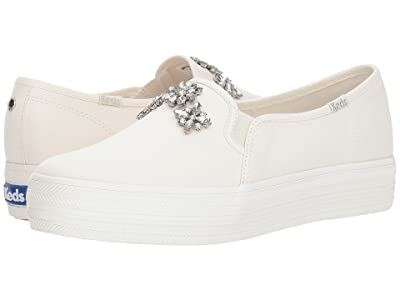 Keds x kate spade new york Bridal Triple Decker Stone Embellishment (Cream Canvas) Women