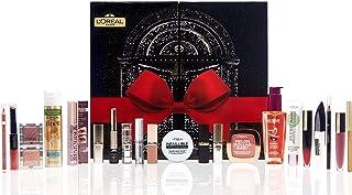 L'Oréal Paris - Calendrier de l'Avent 2020 - Coffret Beauté - 24 Best-Sellers Maquillage, Soins Visage et Cheveux pour Noël