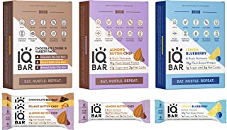 IQBAR Keto Protein Bar Bundle (36 Bars) - Vegan, Gluten-free, Dairy-free Low Carb Protein Bars - Lemon Blueberry (12 Bars)...