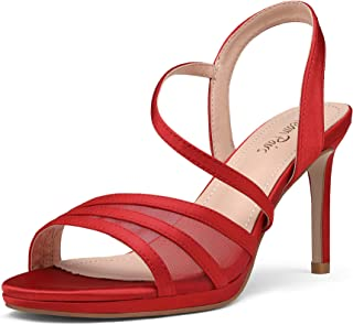 Women's High Stiletto Open Toe Strappy Dress Pump Heel Sandals