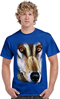 Men's T Shirt Wolf Short Sleeve Tee