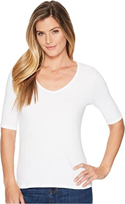 Lilla P - Elbow Sleeve V-Neck