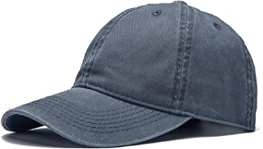 Edoneery Men Women Plain Cotton Adjustable Washed Twill Low Profile Baseball Cap Hat(A1008)