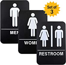 Plastic Restroom Sign: Easy to Mount with Braille (ADA Compliant), Great for Business & Restaurants - 6