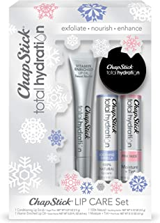 ChapStick Total Hydration Conditioning Lip Scrub, Vitamin-Enriched Lip Oil, 100% Natural Moisturizing Lip Balm and Tinted ...